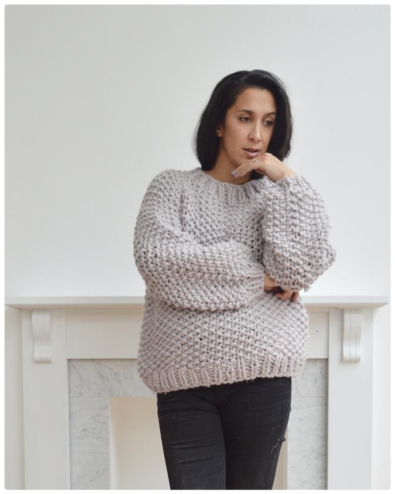 Chunky Knitting Pattern - Oversized Knit Jumper Digital Download