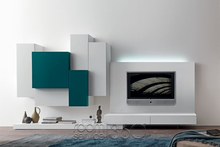 Modus 36 modern wall unit w optional light by presotto