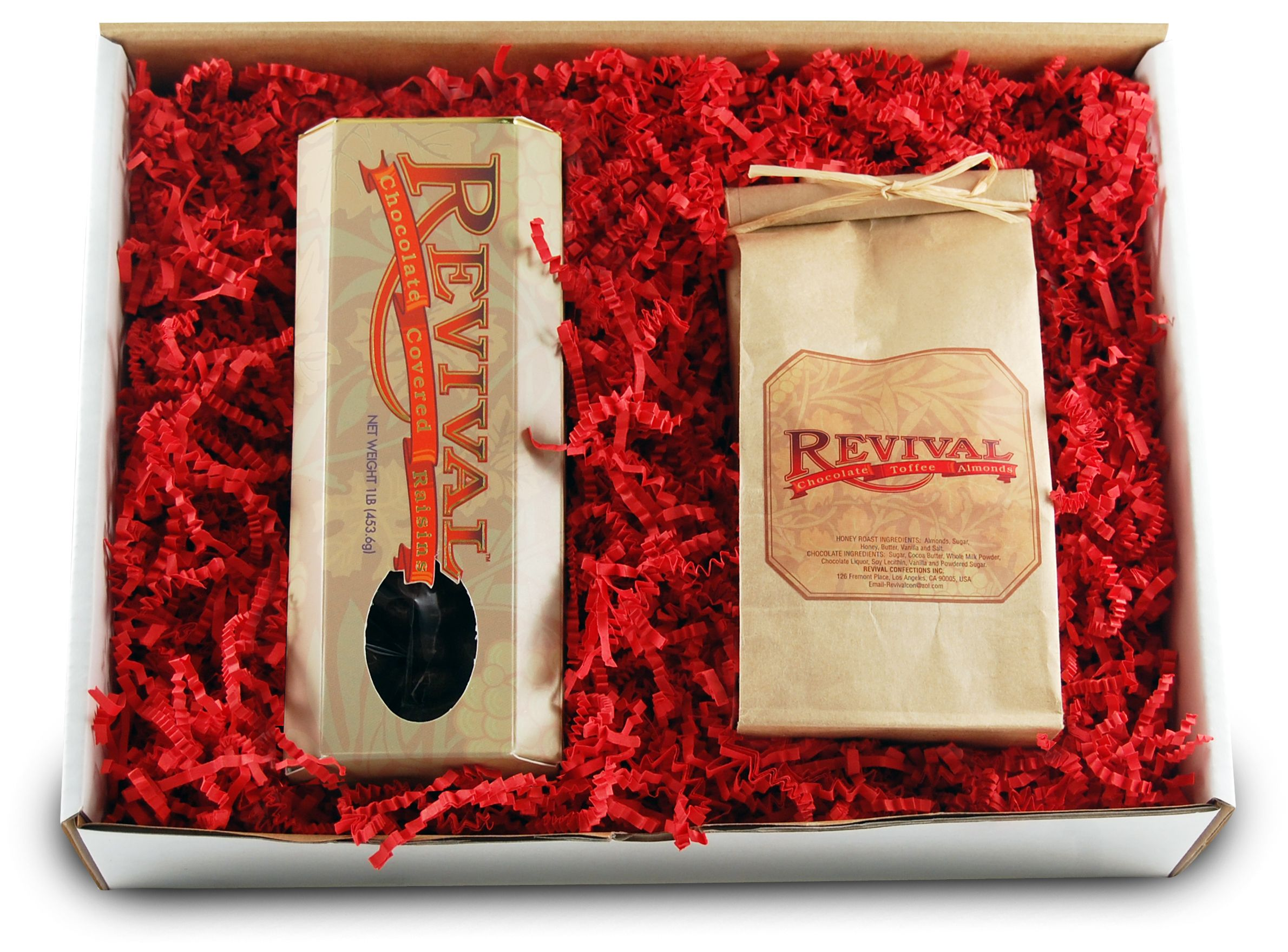 Revival Confections Original Gift Box 1 Pound Each Of Our Chocolate Covered Raisins And Chocolate To Chocolate Covered Raisins Chocolate Toffee Original Gift