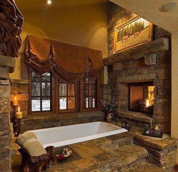Woodideas Sheet Rock And Cabin Bedroom: Log Cabin Bathroom