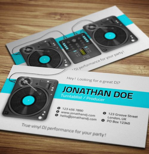 Inspire Amazing DJ Business Cards PSD Templates Designs