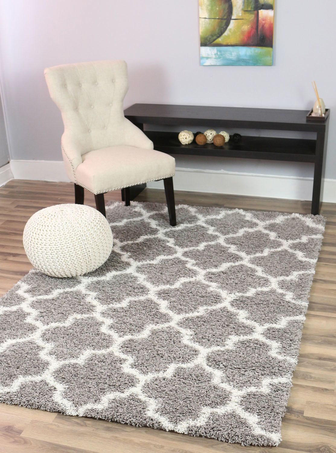 You Ll Love The Gray White Area Rug At Allmodern With Great Deals On Modern Decor Products And White Rug Living Room Grey And White Rug Shag Rug Living Room
