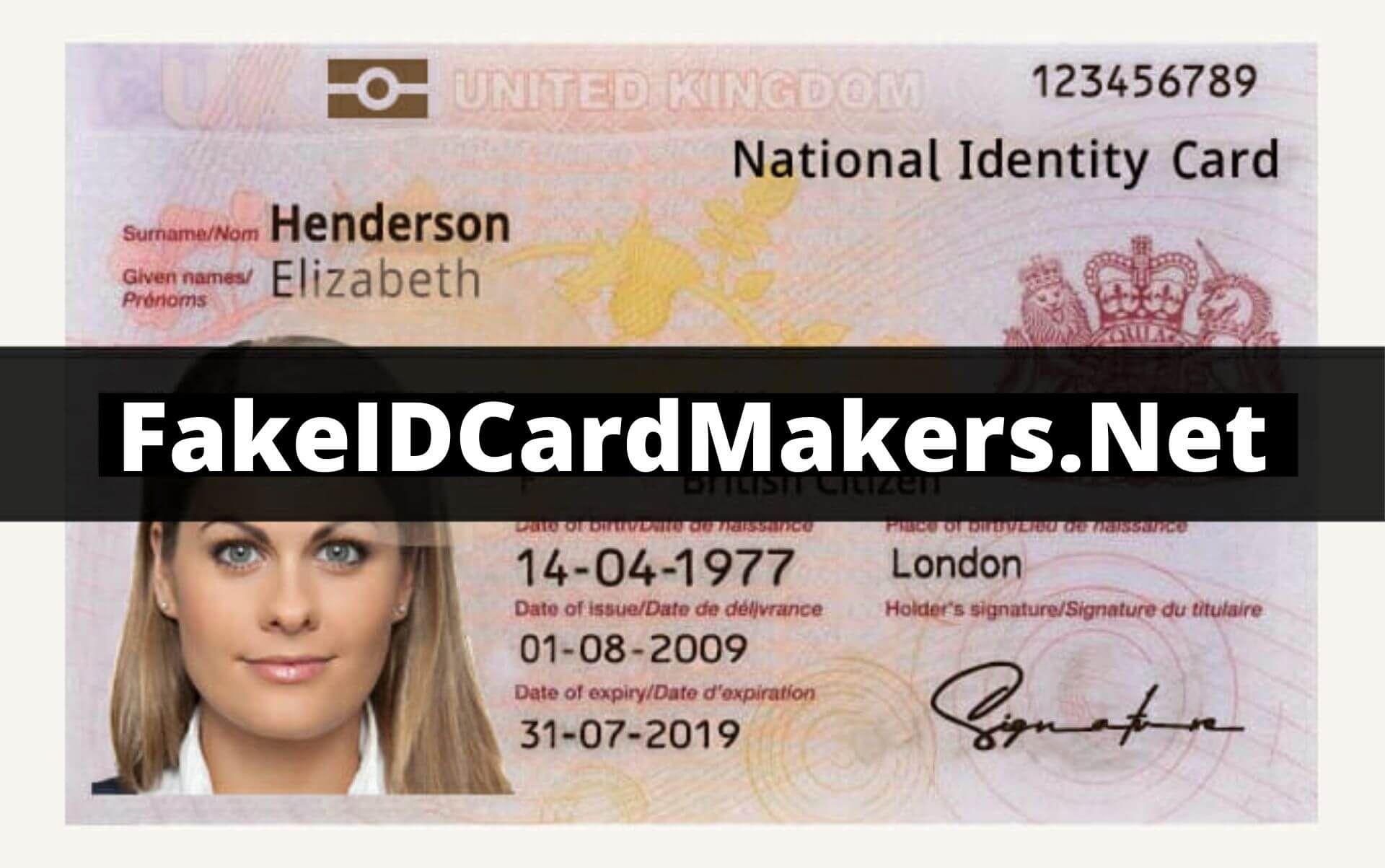 Uk Id Card Psd Template Cards Psd Templates Templates
