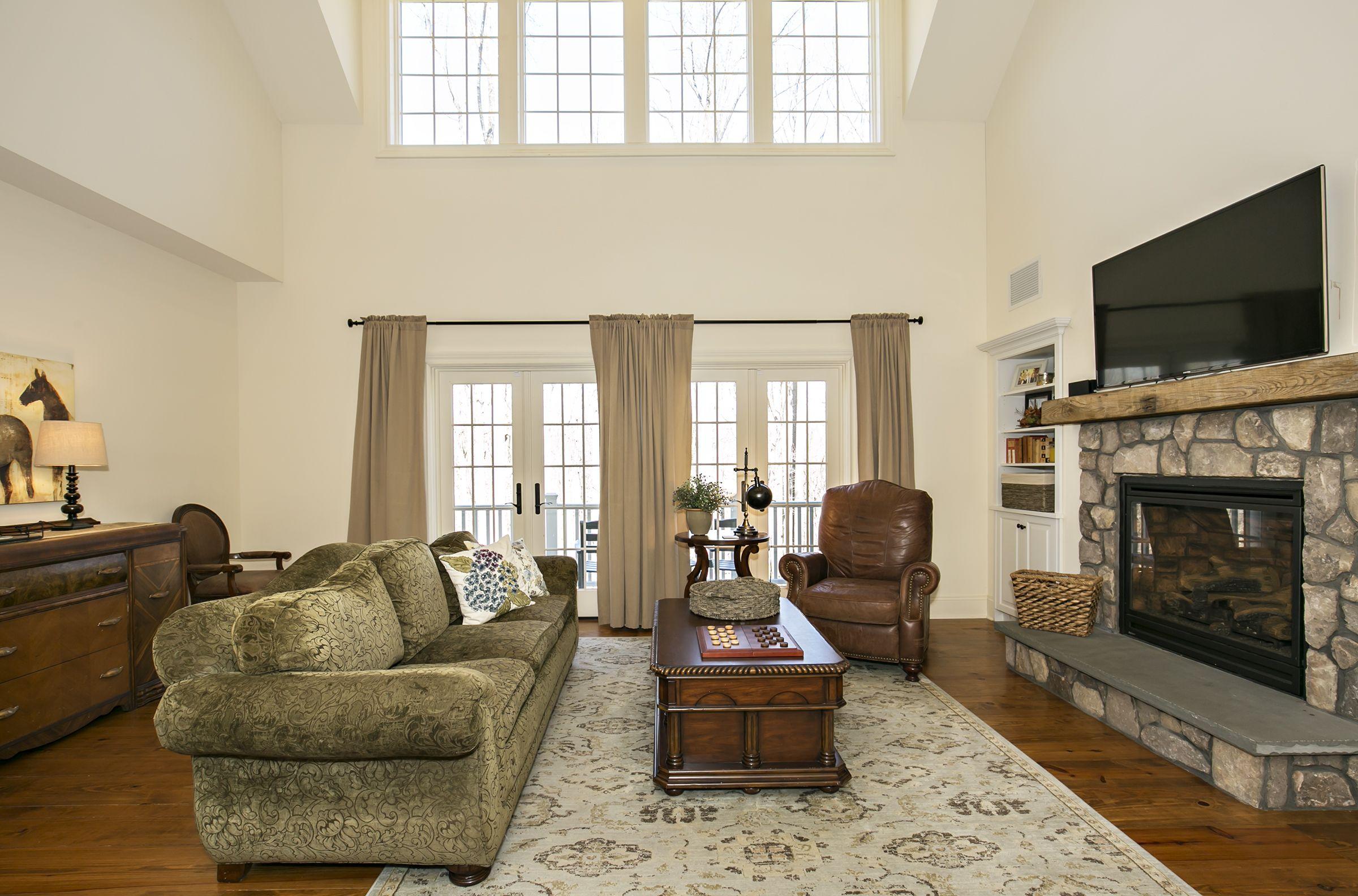 Tewksbury Township, NJ. living room. french doors. balcony ...