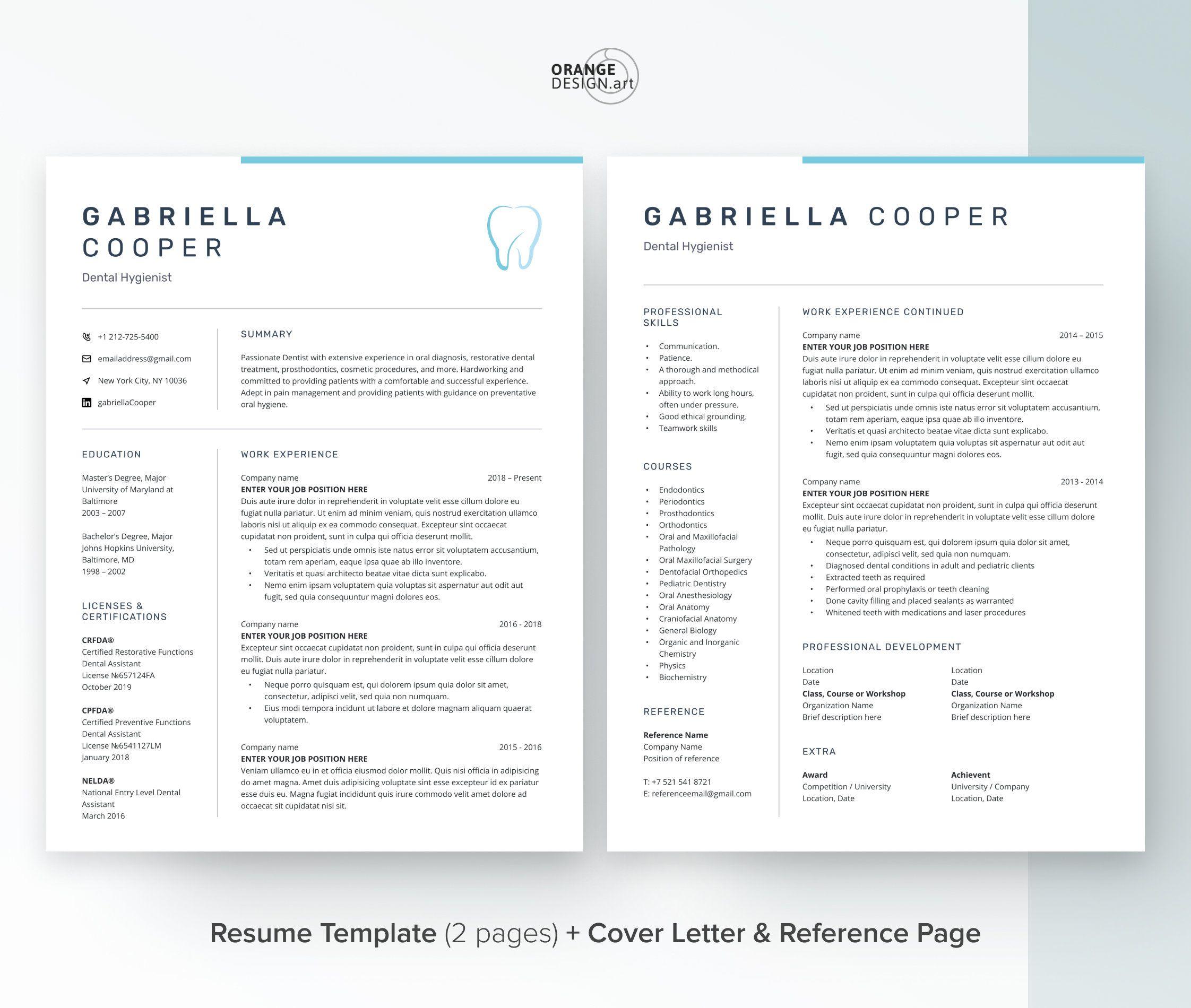 Medical cv template for word modern resume template