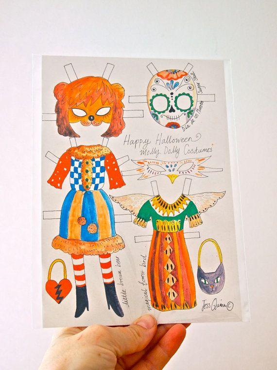 Extrakleidung Kleid Papier Puppe Kostüme wenig Min Halloween