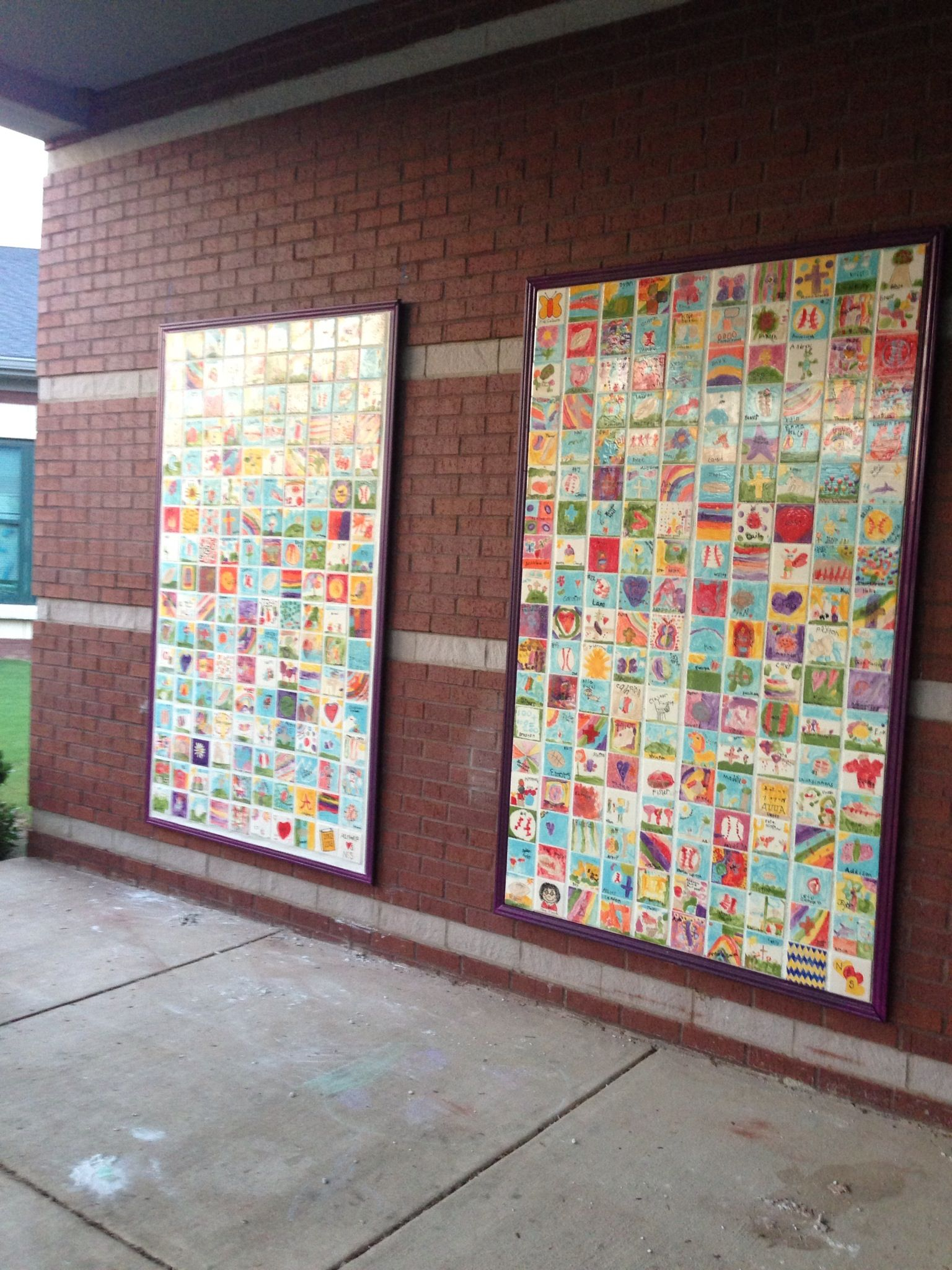 Our fundraising wall murals are complete each tile was for Extra mural classes
