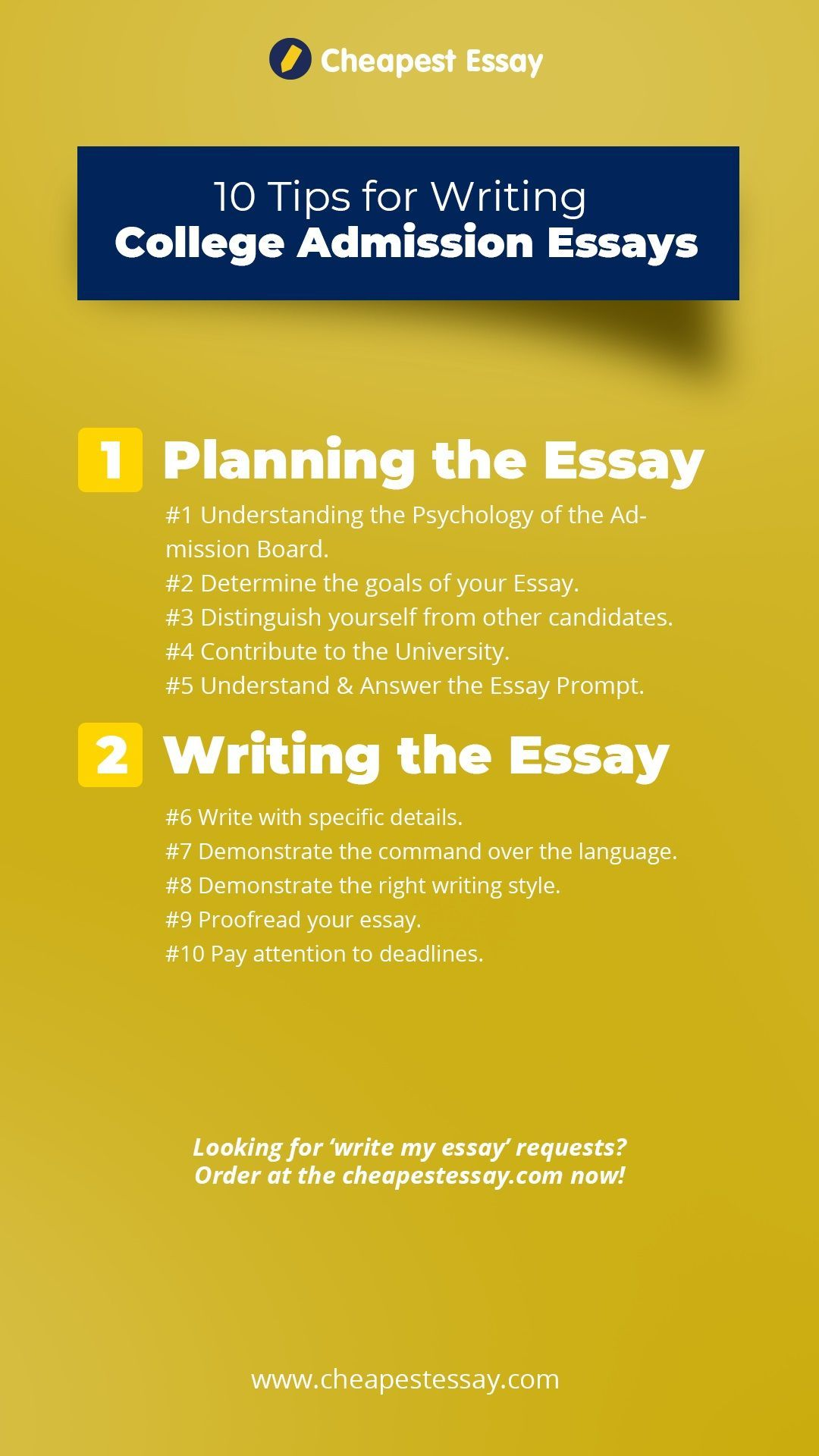 10 Tip For Writing College Admission Essay Personal Statement Example Uca English Literature