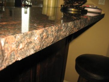 Granite With Unfinished Edges Yurt Home Mediterranean Kitchen Tuscan House Countertops