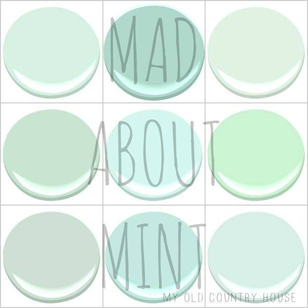 My 9 Favorite Benjamin Moore Mint Greens Cool Copper Patina Italian Ice Green Leisure Light Mantis Serene Breeze Soft