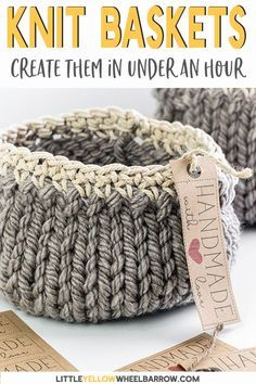 Free DIY Basket Pattern you can Knit up in a Flash -   18 knitting and crochet Learning yarns ideas