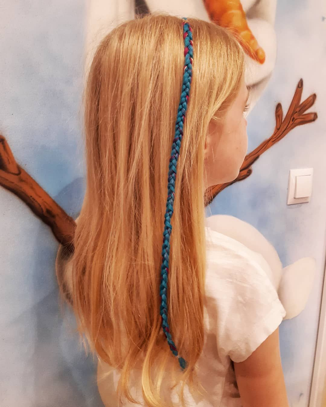 Blue 💙🦄 #braids#kolorowewarkoczyki#colorful#blue#hairstyle#blondehair
