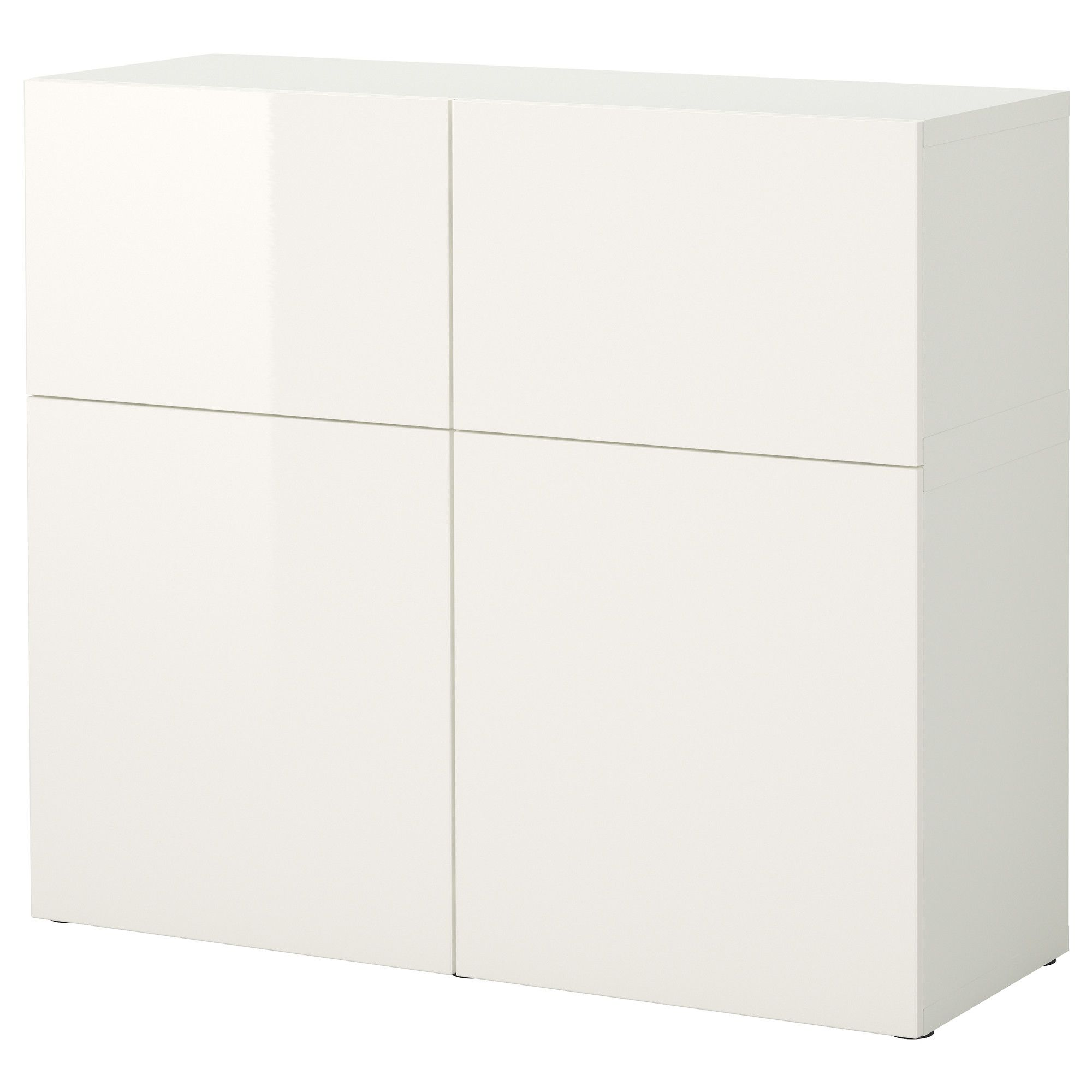 Best Storage Combination With Doors  Whitetofta High Glosswhite  Ikea