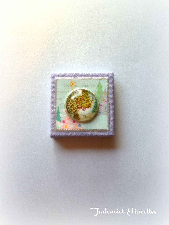 """*NOEL*Mini toile décorative série """" Douce Nuit ... """" n°78 : Accessoires de maison par jademiel-etincelles"""