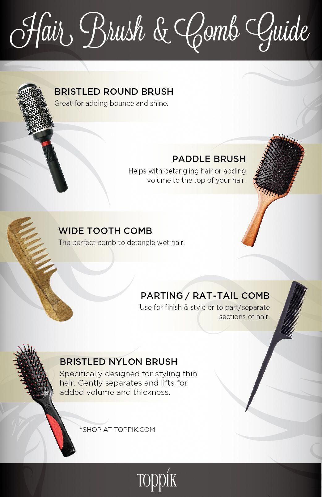 Read The Toppik Hair Brush Comb Guide For Men And Women Styling Hair Brush Hair Care Frizzy Hair Detangler