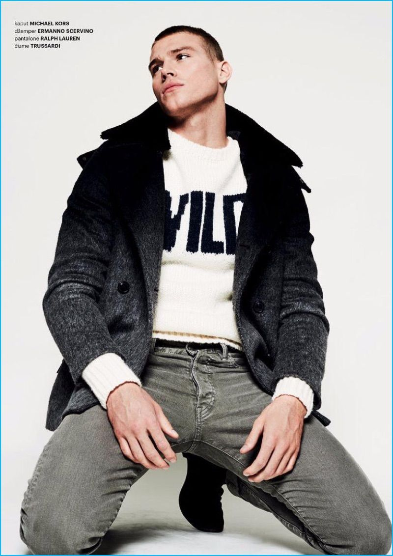 Matthew Noszka Dresses for Winter with Esquire Serbia