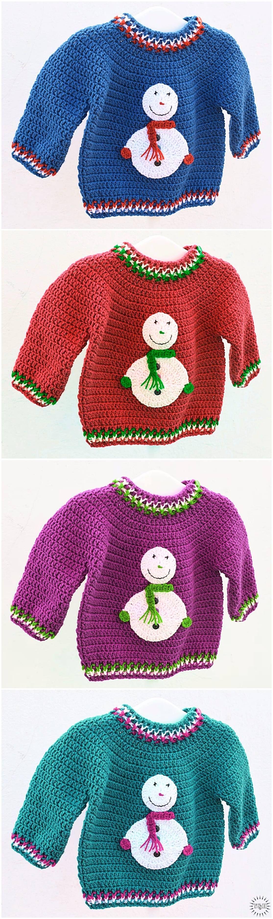 Christmas Sweater Free Crochet Pattern | Häkeln, Häkelideen und ...