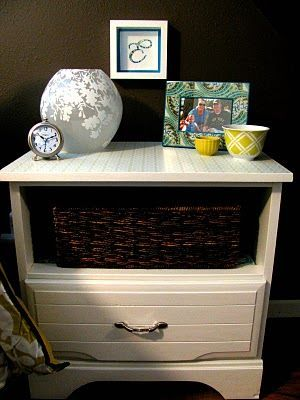 @Lindsay Beals, Could You Leave A Drawer Out Of The Dresser You Painted And  Put In Two Baskets??