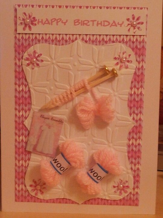 Knitting Birthday Card : Knitting birthday card cards sewing
