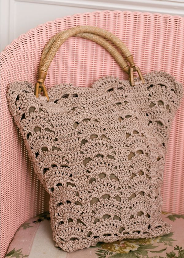 Leafy Shopping Bag Free Crochet Pattern Crochet Totes Bags