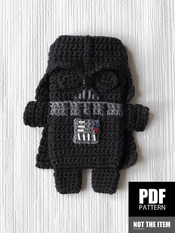 Pdf Pattern Darth Vader Star Wars Iphone 7 6 5 Crochet Case
