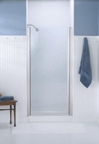 Sterling Finesse Trade Silver Frameless Hinge Shower Door With