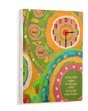 Time Is Hope Wall Clock