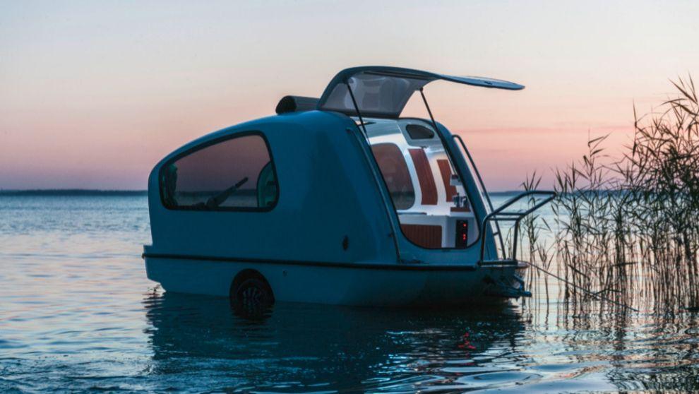 Sealander: ¿Es un barco? ¿Es un remolque? Es una caravana flotante ...