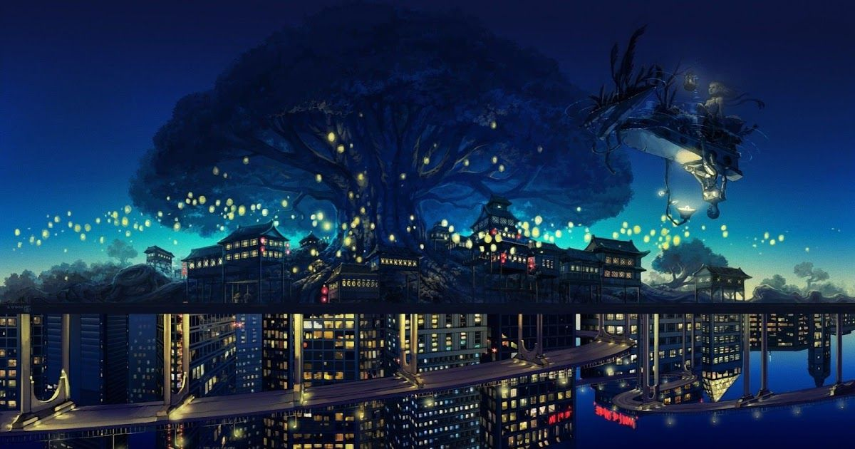 Anime City Wallpapers 80 Images Anime Night Wallpapers Top Free Anime Night Backgrounds Anime City Wal City Wallpaper Anime Backgrounds Wallpapers Anime City City anime scenery wallpaper