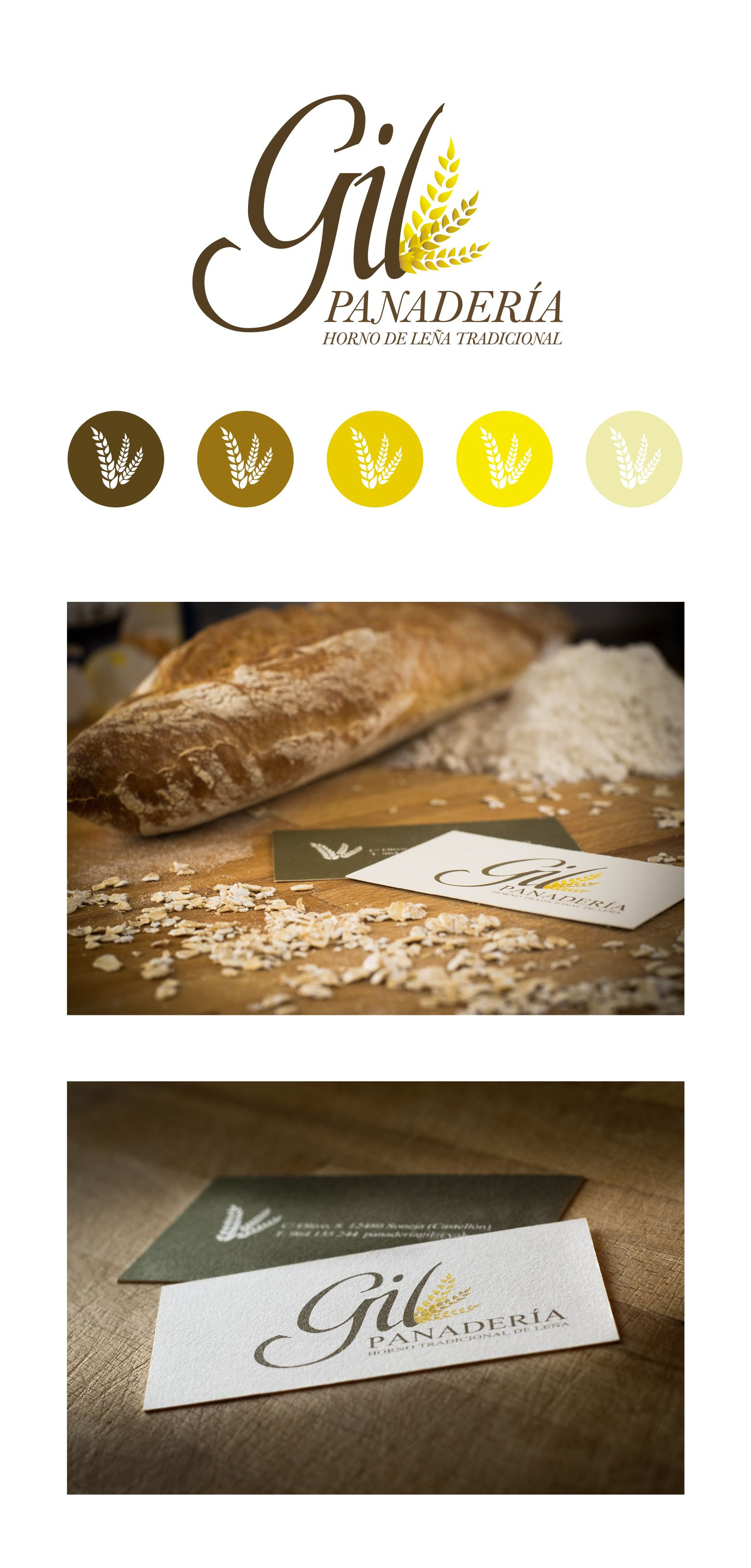 Design of corporate image and business cards for bakery Gil ...