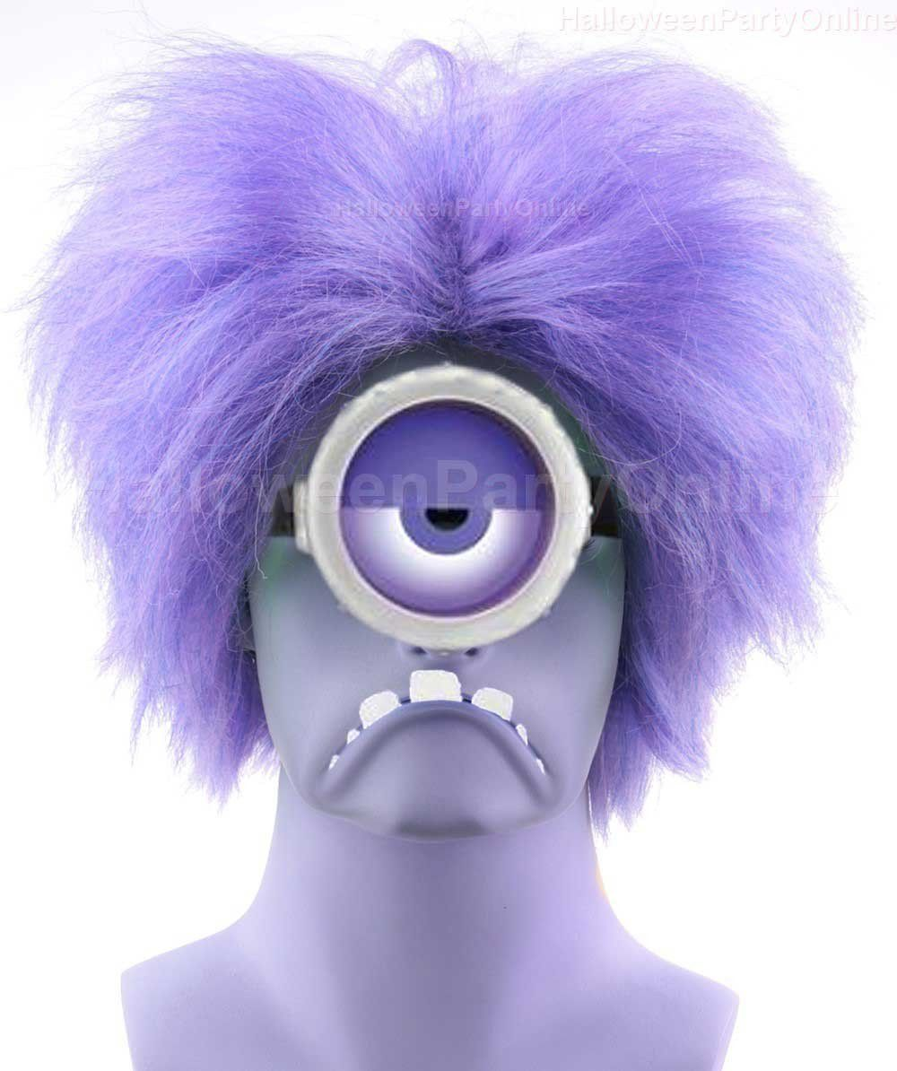 Evil Minions Wig Purple Tv Movie Party Ready Fancy Cosplay