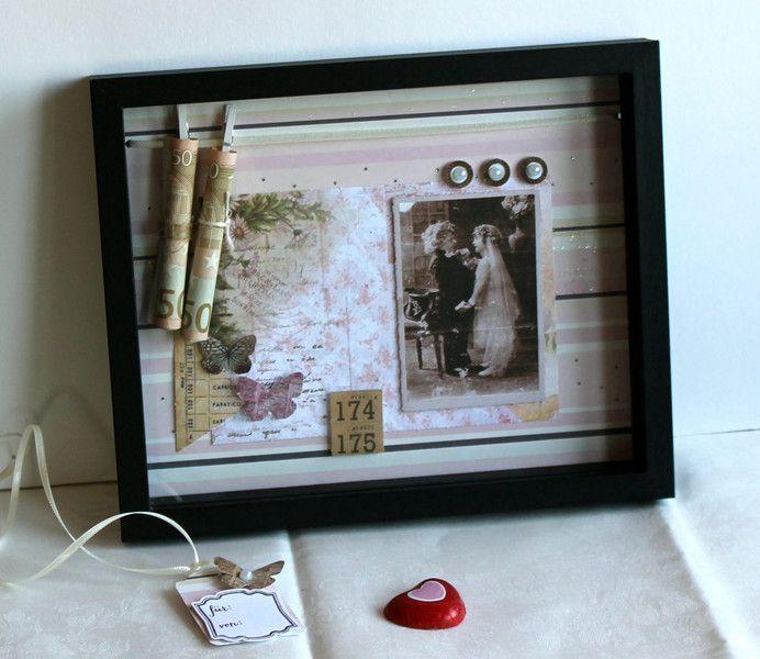 Schaukasten Geldgeschenk Vintage Hochzeit Vintage Hochzeitsgeschenke Geschenke Geldgeschenke