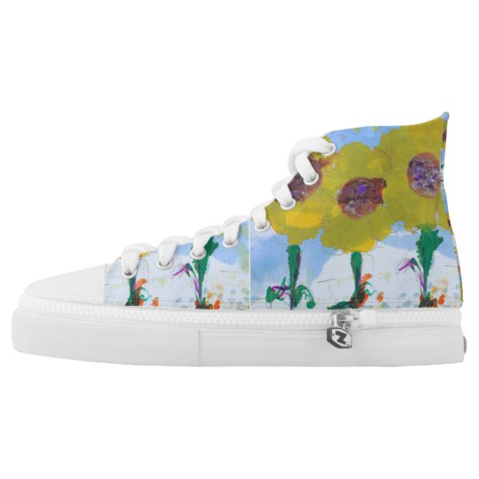 Yellow Flower Power Boho Bride Sneakers   Zazzle.com