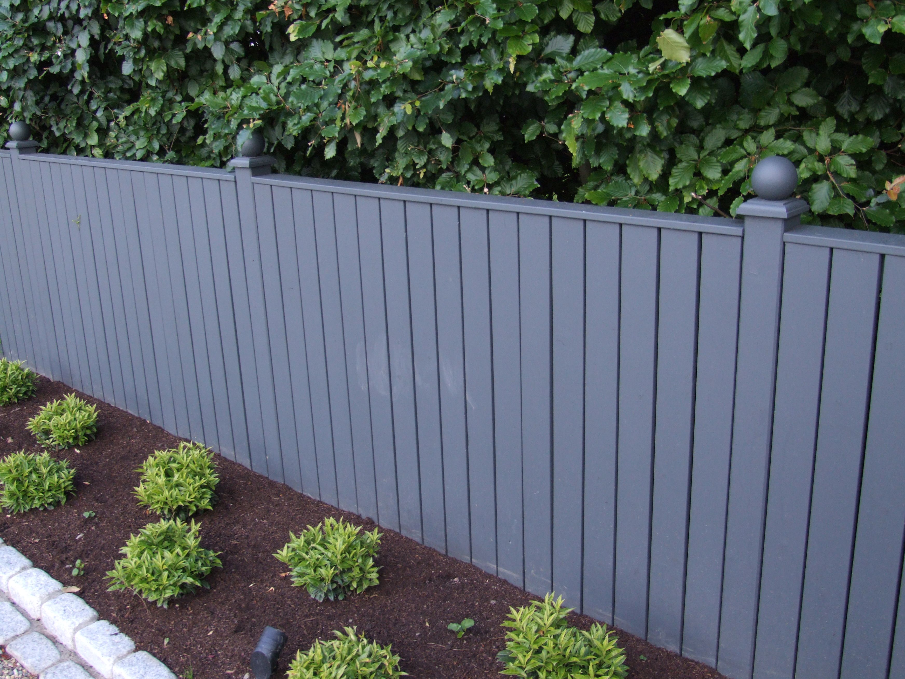 Pressure Treated Bespoke Timber Fence Painted With Farrow Ball
