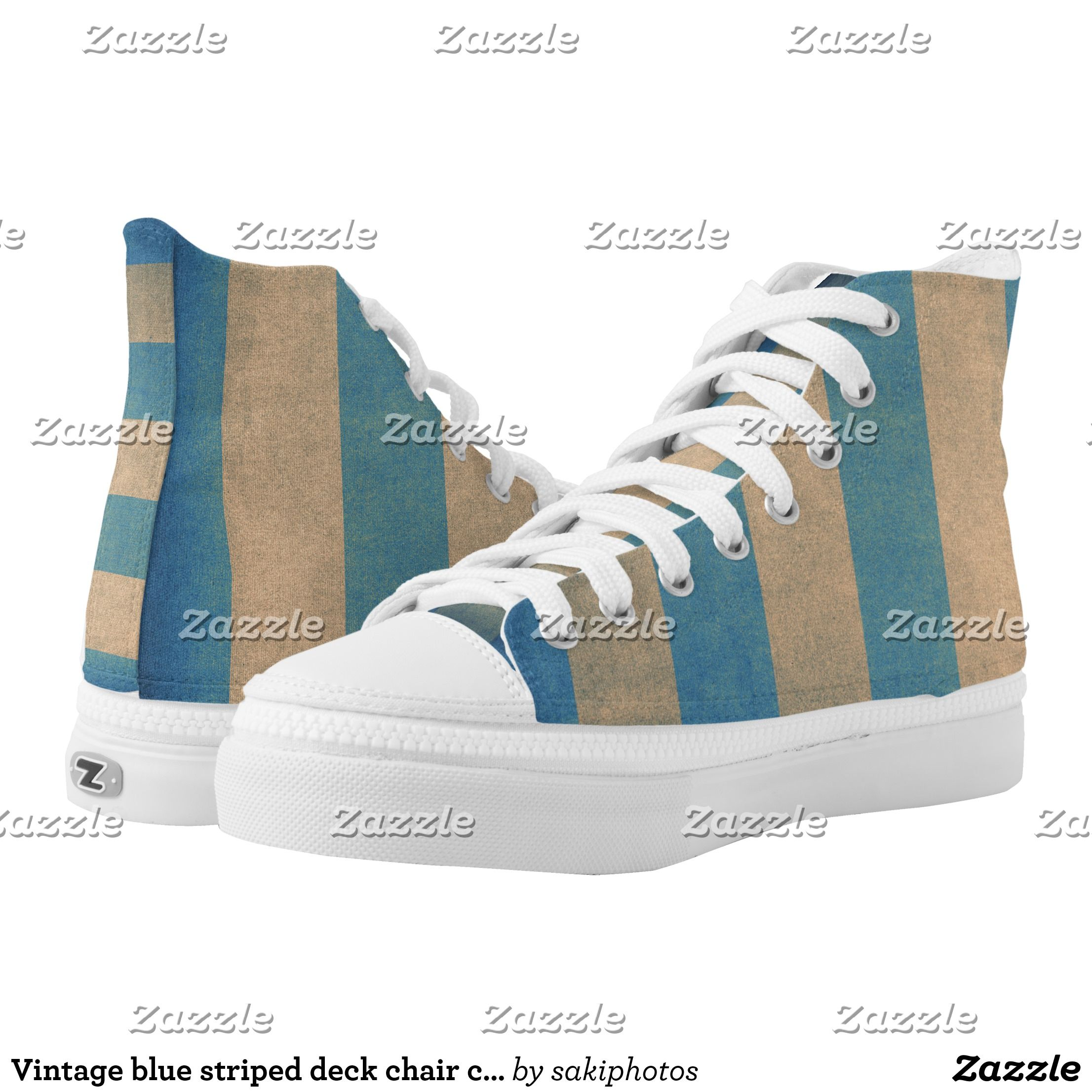 Surprising Vintage Blue Striped Deck Chair Cover High Top Sneakers Pabps2019 Chair Design Images Pabps2019Com