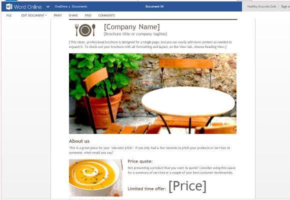 Digital Brochure Template For Word Online Word Templates