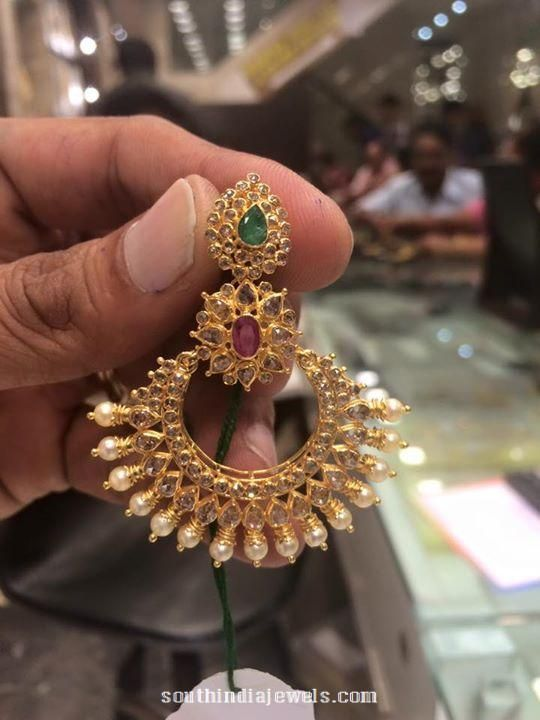 Latest Gold Earrings Design With Weight 18 Grams Indian Jewelry Antique Beaded