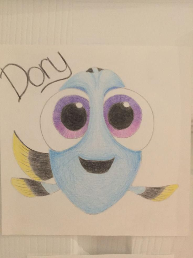 Baby Dory With Images Disney Art Drawings Cute Disney