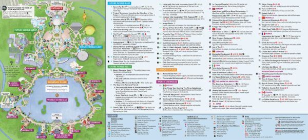 New Park Maps Have Arrived at Epcot After Universe of Energy Closes ...