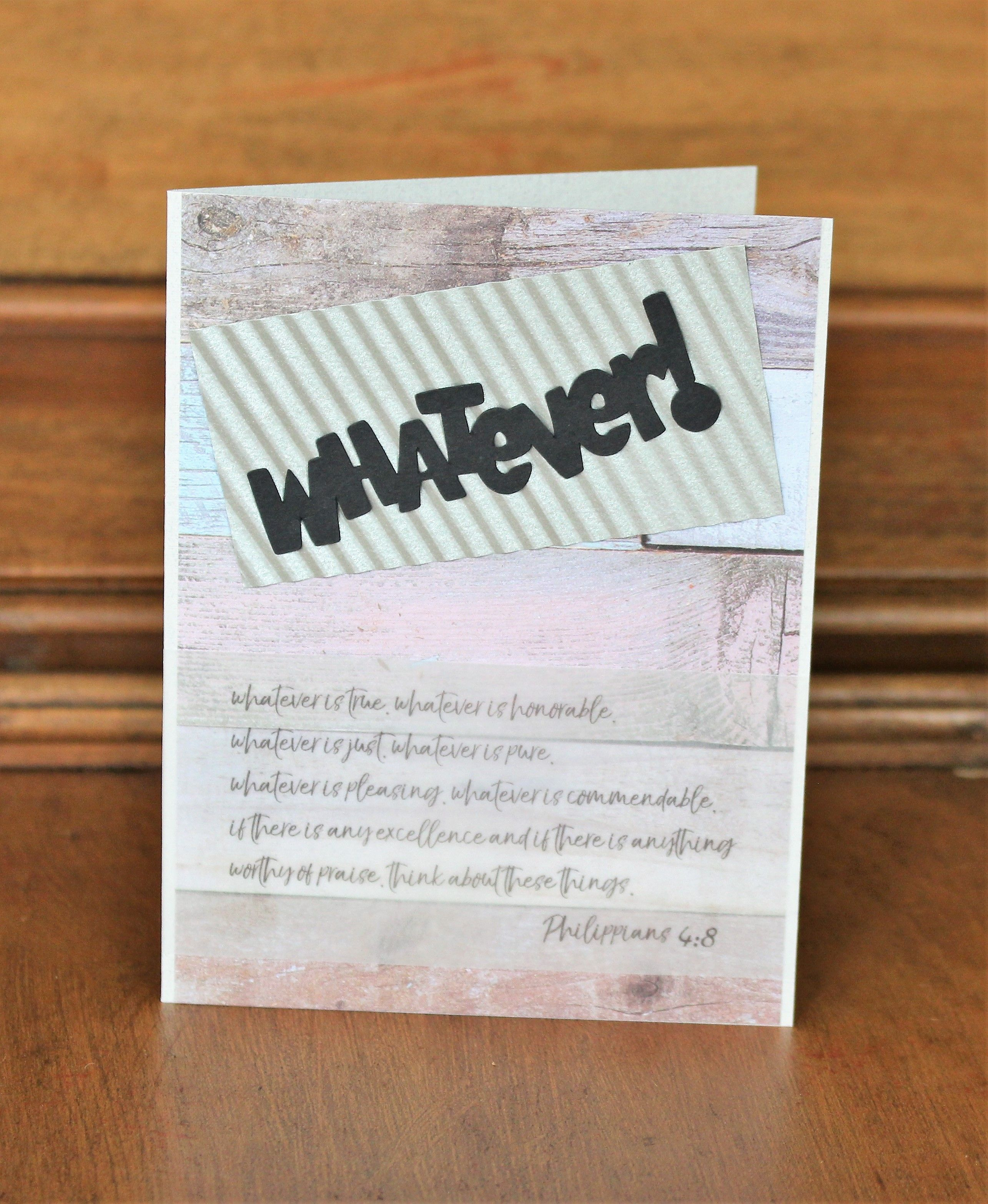 Handmade Funny Christian Card with Scripture Philippians