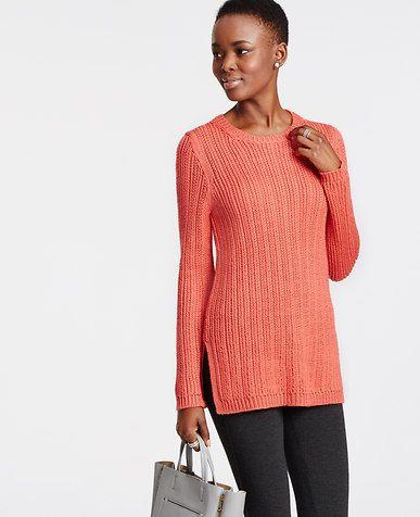 Textured Wool Tunic Sweater | *Ann Taylor* | Pinterest | Tunic ...