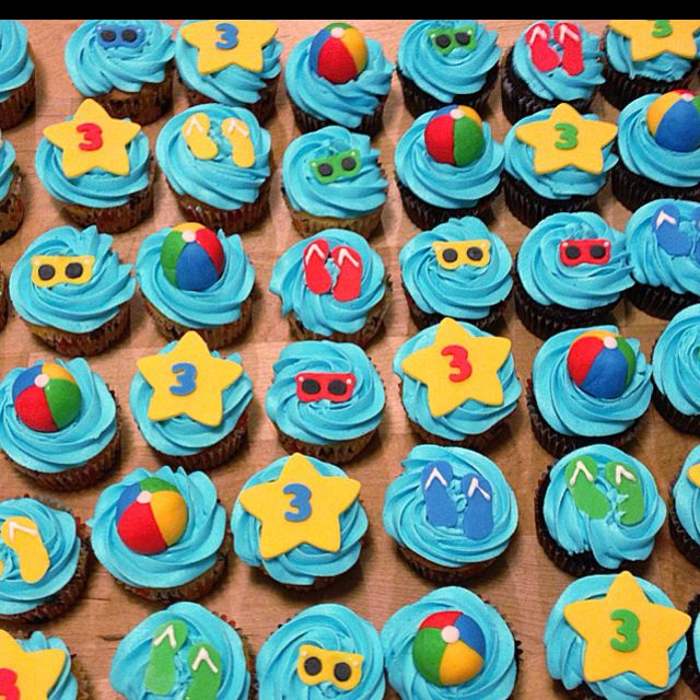 Pool Party Cupcakes Pool Party Cakes Kids Pool Party
