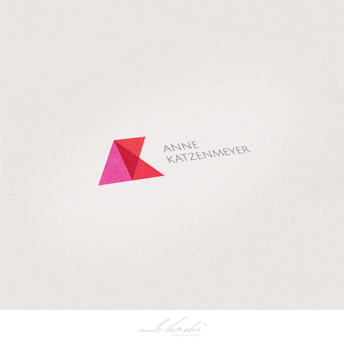 Modern and geometrical logo created for real estate for Modern minimalist design concept