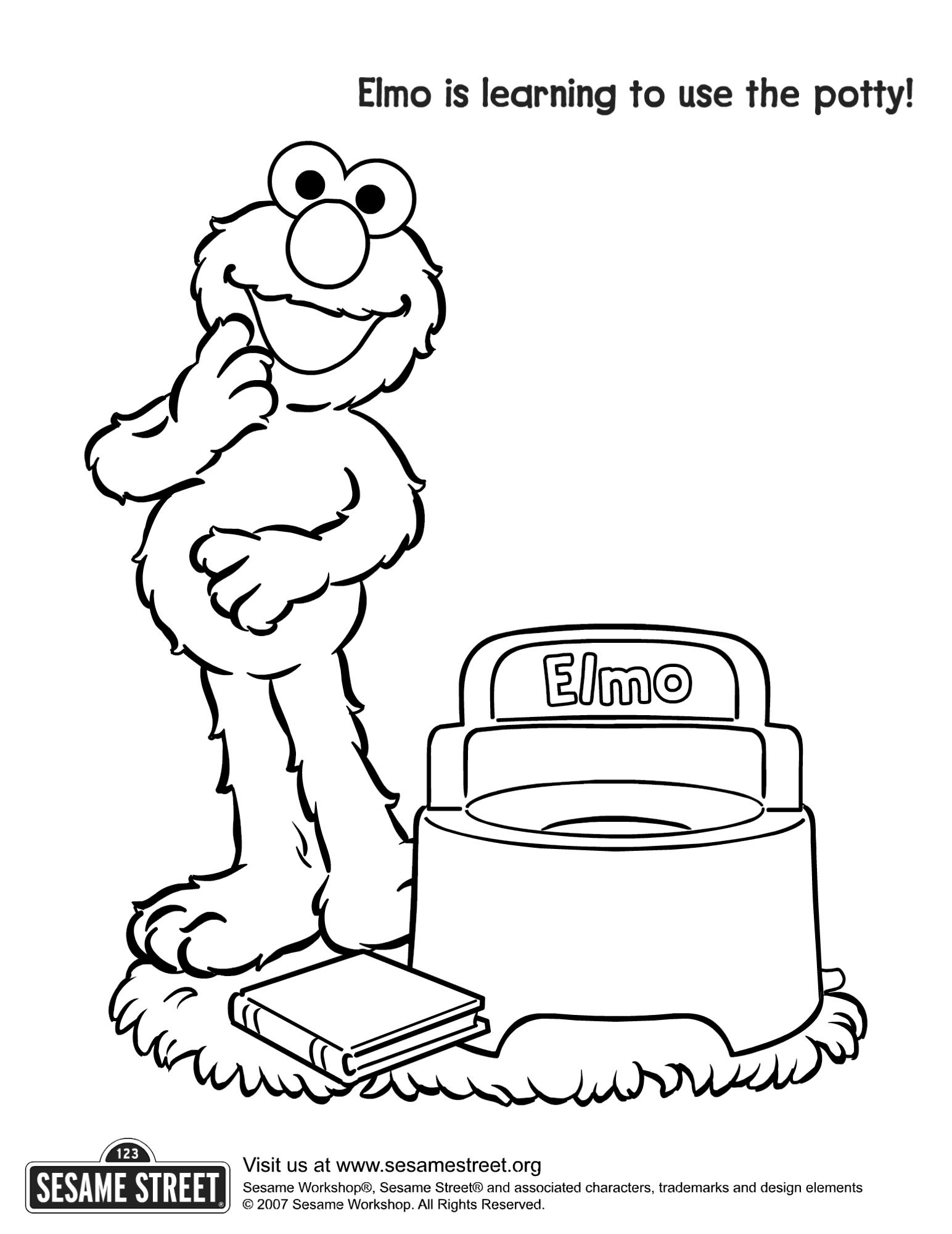 Elmo Potty Coloring Page
