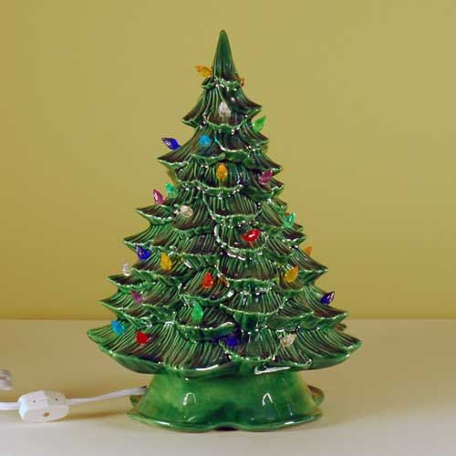 New Small Lighted Ceramic Christmas Tree by SarajanesCeramics - New Small Lighted Ceramic Christmas Tree Ceramic Christmas Trees