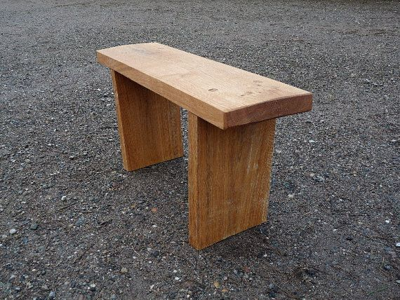A Sturdy Rustic Garden Bench Made From A Fallen Oak Trunk. This Bench Is  46cm