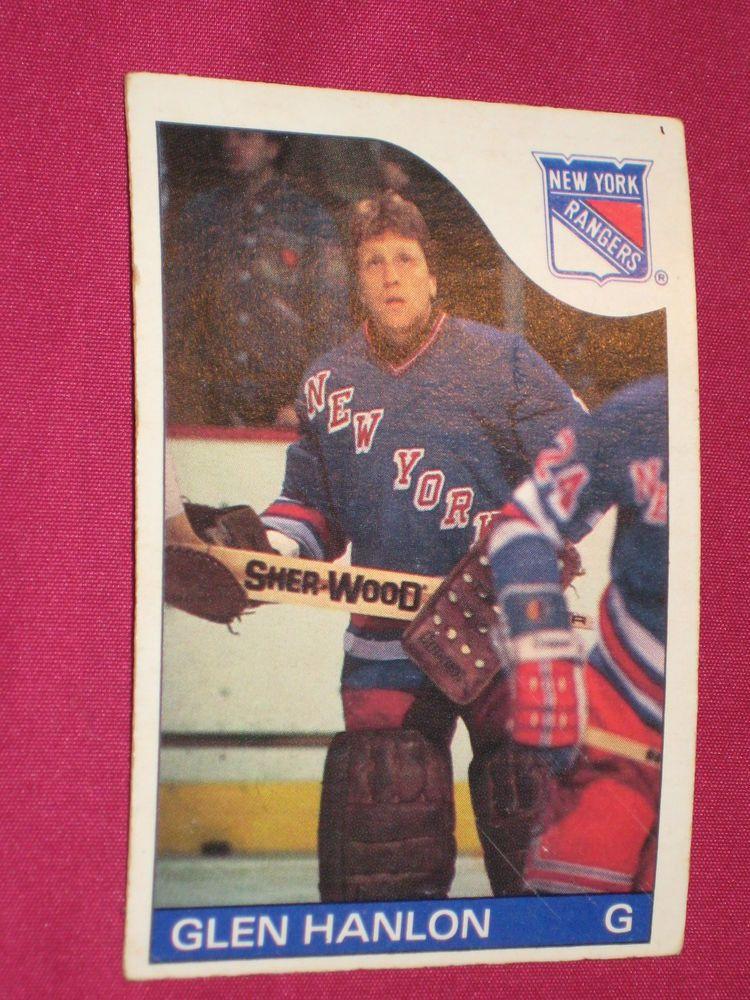 reputable site 46887 1766e 1985-86 #149 Glen Hanlon, O-Pee-Chee OPC, New York Rangers ...
