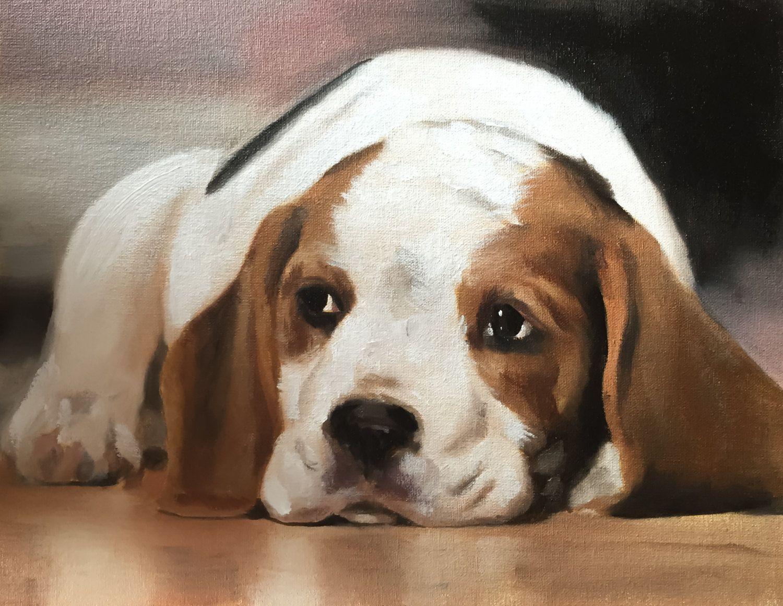 Beagle Dog Art Print Beagle Painting Beagle Poster Beagle Decor