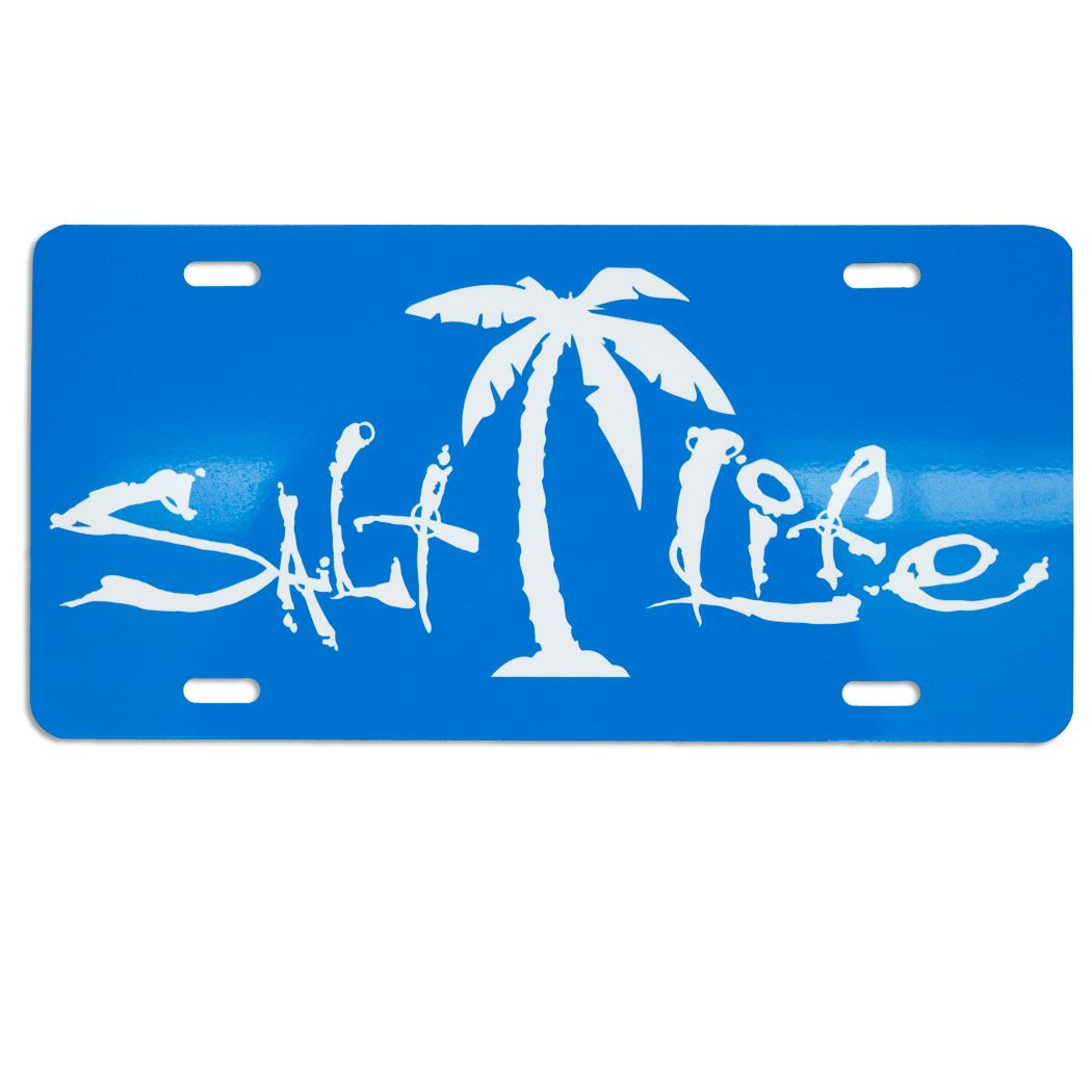 Salt Life Signature License Tag Love This Salt Life Beach Theme Decor Life [ 1050 x 1050 Pixel ]