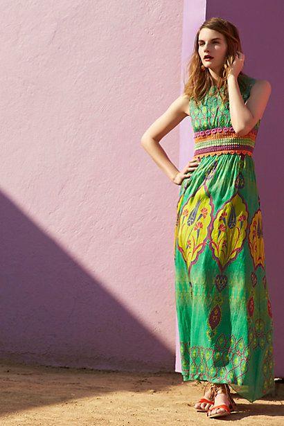 Boteh maxi dress anthropologie coupons